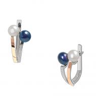 Срібні сережки з перлинами