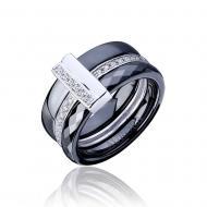 Срібний перстень з керамікою