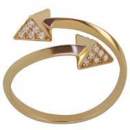 Золотий перстень з фіанітом