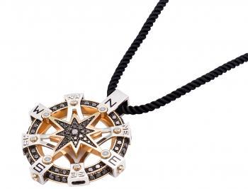 Золотий підвісок з діамантами