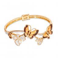 Золотий браслет з емаллю