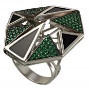 Срібний перстень з агатом