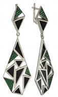 Срібні сережки з агатом