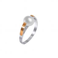 Срібний перстень з перлиною