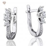 Золоті сережки з діамантами