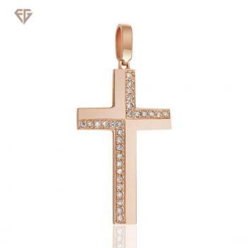 Золотий хрестик з діамантами