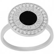 Срібний перстень з оніксом