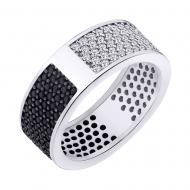 Срібний перстень з фіанітами