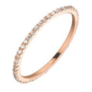 Золотий перстень з фіанітами