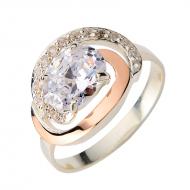 Срібний перстень з фіанітом