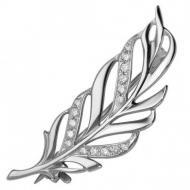 Срібна брошка з фіанітами