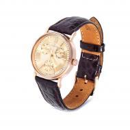 Золотий годинник з шкірою